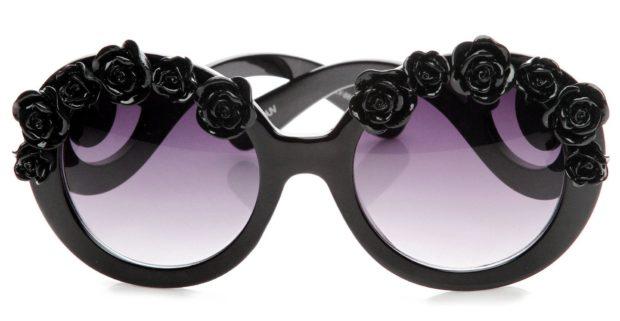 Модные очки с узорчатой оправой фото женские