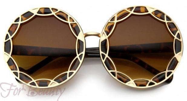 Модные очки с узорчатой оправой 2017