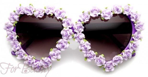 стильные женские очки в цветочной оправе