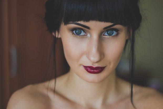 Модные черные оттенки волос