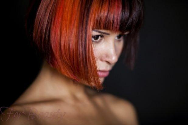 окрашивание волос в красные оттенки