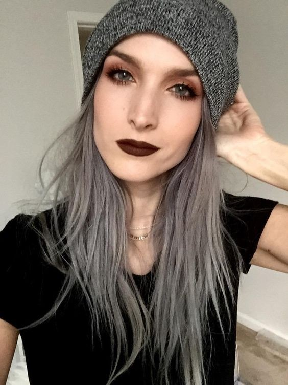 Модные серые оттенки волос фото