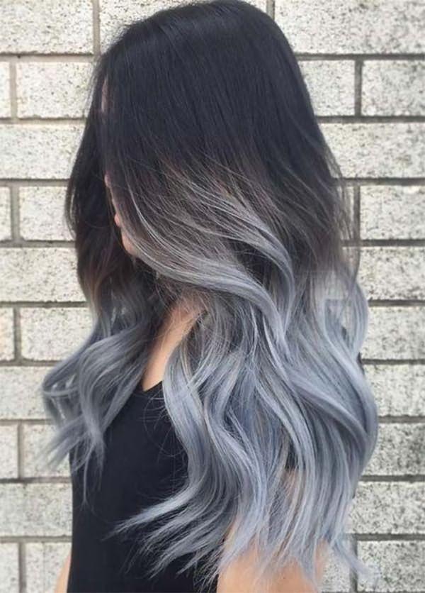 Модный серый оттенок волос