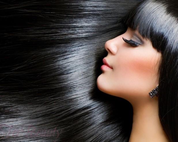 Модный черный оттенок волос 2018