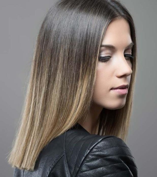Модный оттенок волос градиент