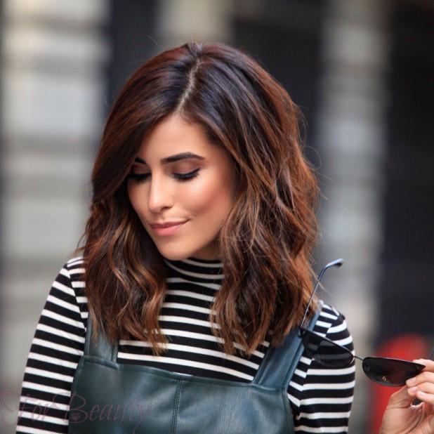 Модный шоколадный оттенок волос 2018