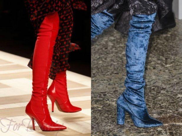 Модные сапоги на каблуке осень-зима 2018-2019 фото