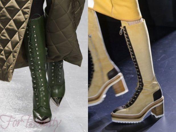 женские сапоги на каблуке осень-зима 2018-2019