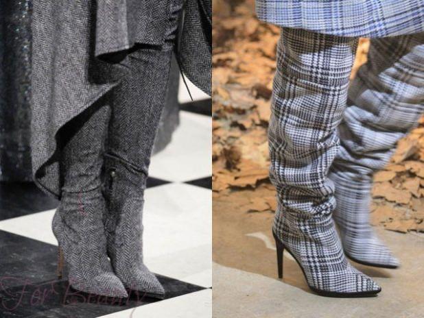 Модные сапоги на шпильке осень-зима 2018-2019