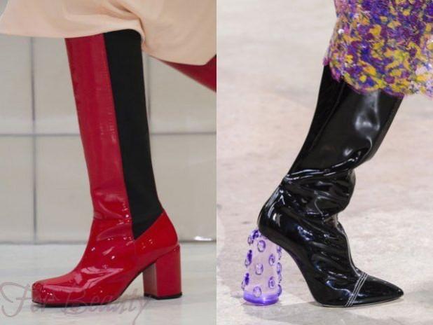 Модный декор женских сапог сезона осень-зима 2018-2019