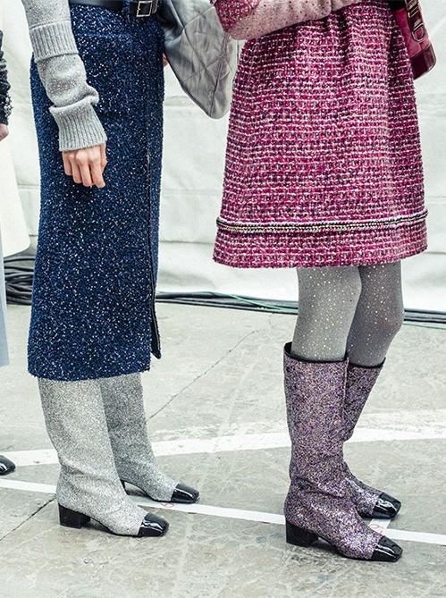 Модные классические сапоги отLouisVuittonиSaintLaurentосень-зима 2018-2019