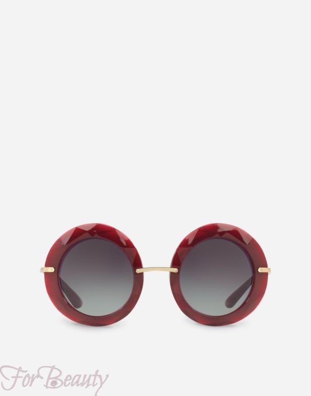 красные солнцезащитные очки 2018