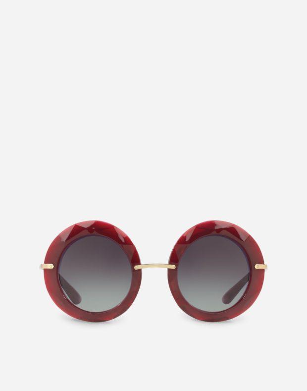 красные солнцезащитные очки 2018-2019