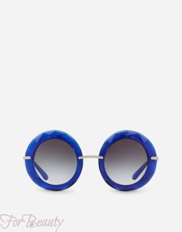 синие солнцезащитные очки 2018