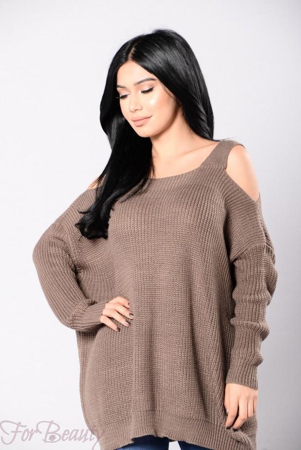 Модные мешковатые свитера осень - зима 2018 2019 женские