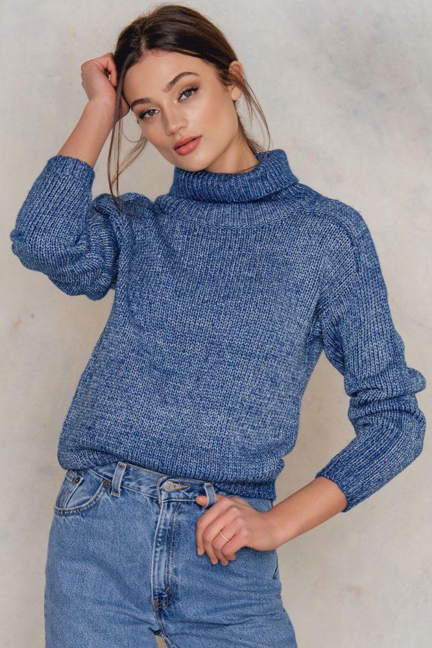 Модные свитера с высоким горлом осень-зима 2019-2020 женские
