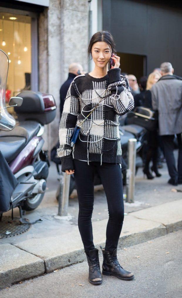 Модные свитера с крупным рисунком осень-зима 2019-2020 женские
