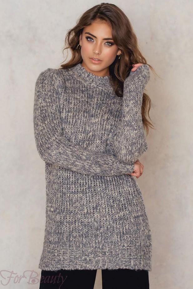 Модные объемные свитера крупной вязки в стиле «oversize»