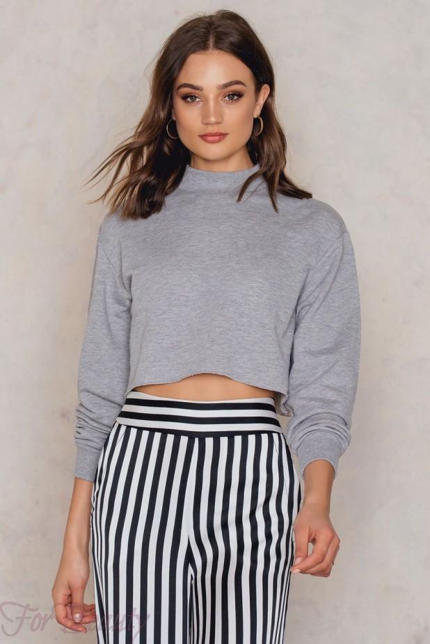 Модные короткие свитера осень - зима 2018 2019 женские фото