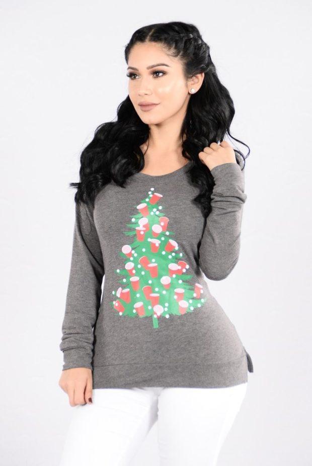 Модные свитера: с новогодним узором