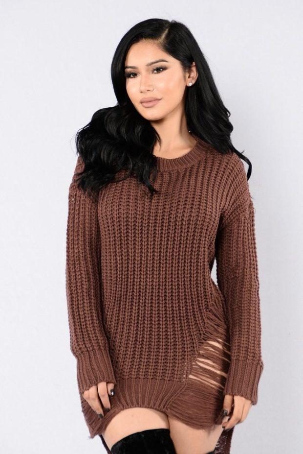 Модные свитера с бахромой осень-зима 2019-2020 женские фото
