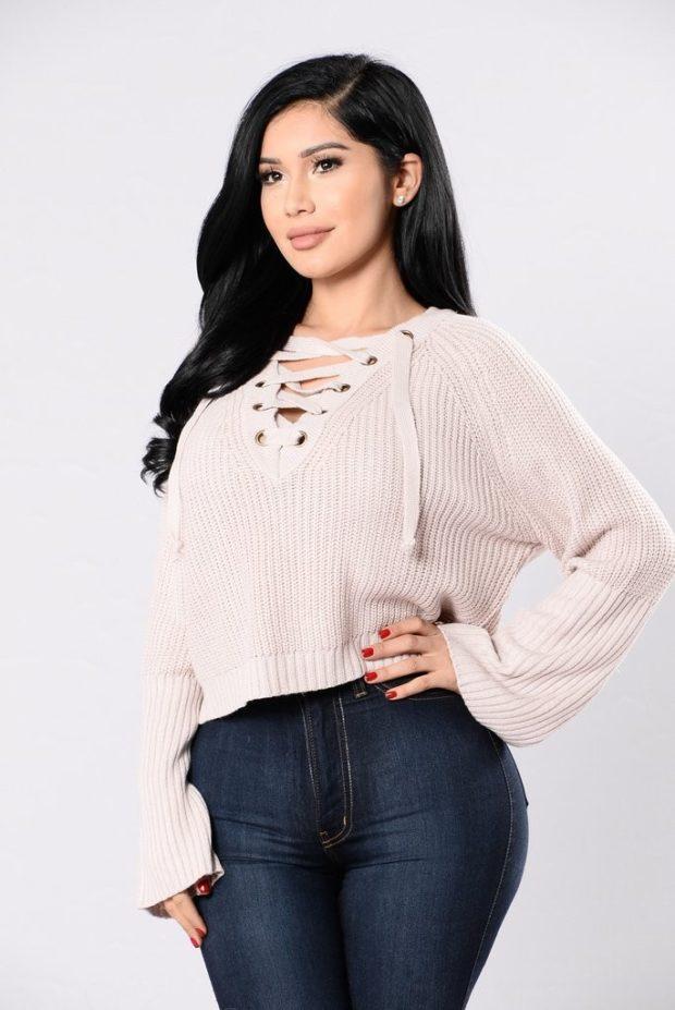 женские короткие свитера
