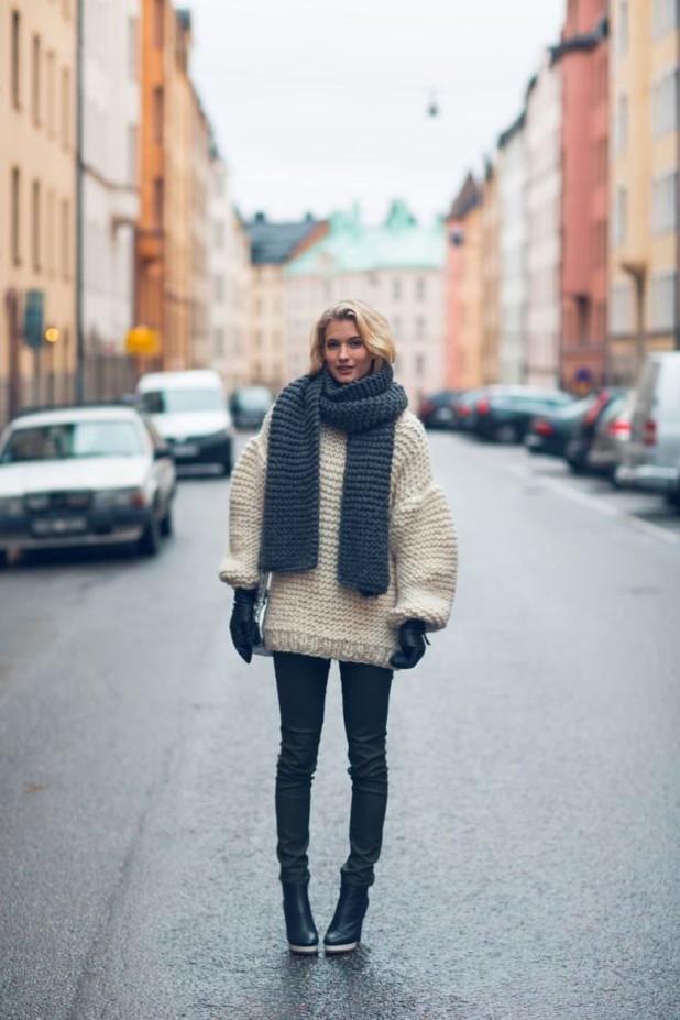 свитер оверсайз женский