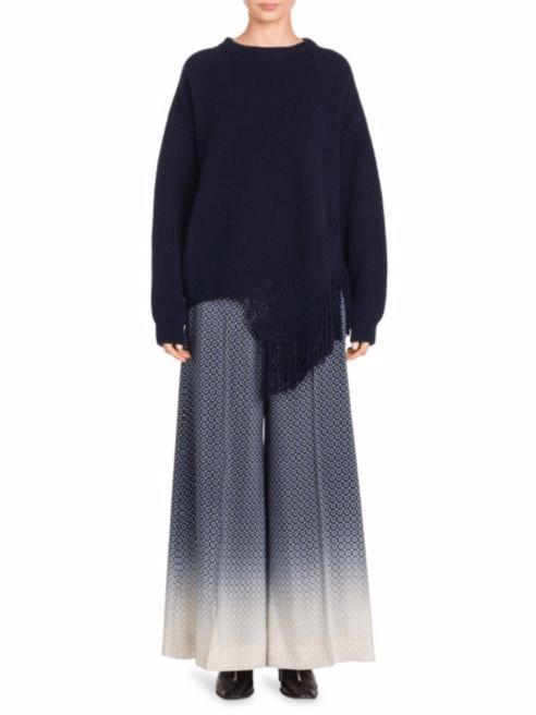 свитера с бахромой осень-зима 2018 2019 женские фото