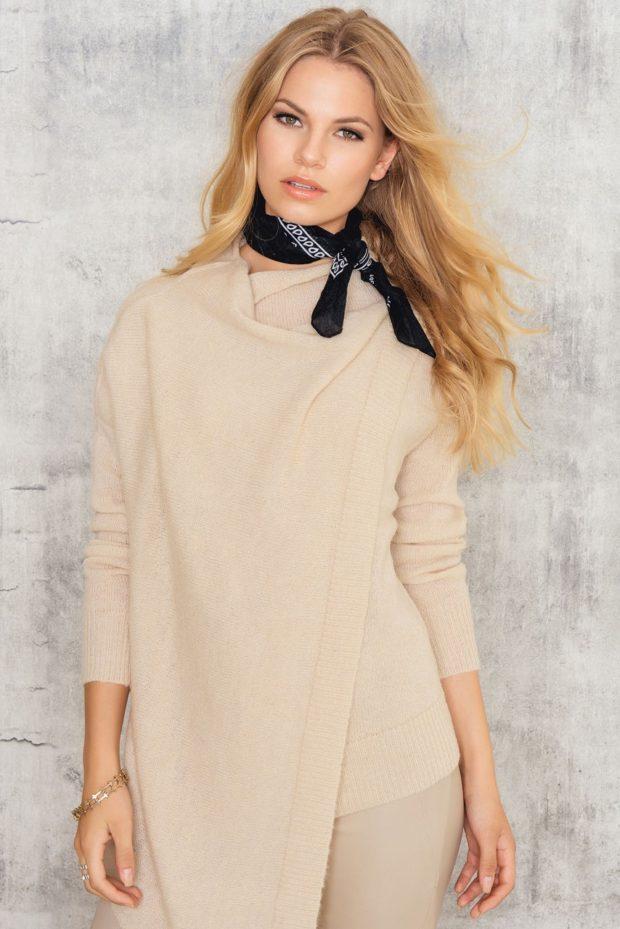 женские асимметричные свитера
