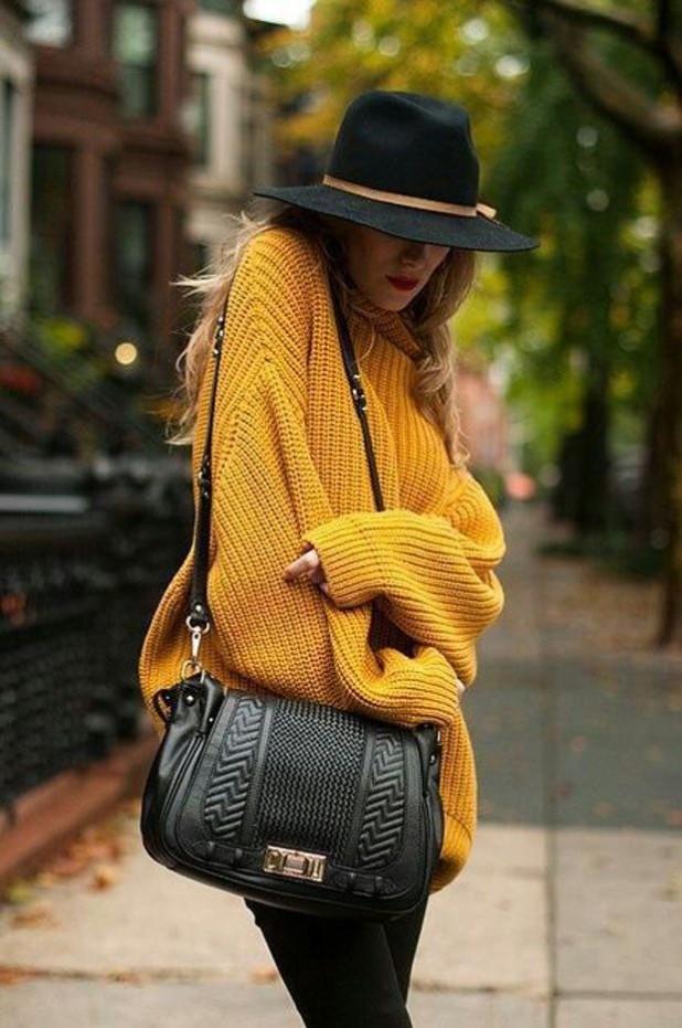 свитера 2018 2019 женские: желтого цвета