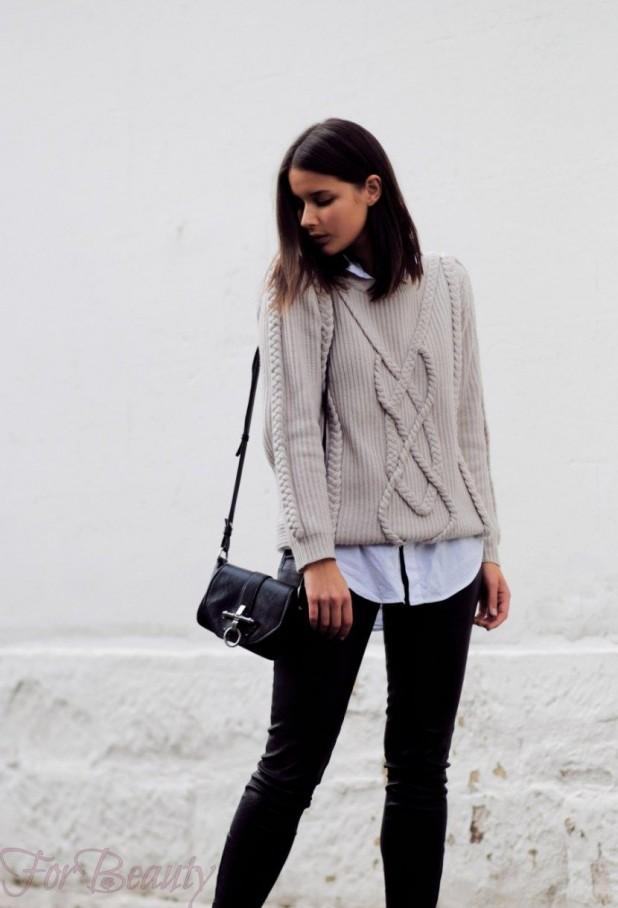 Модные вязаные свитера осень-зима 2018 2019 женские фото