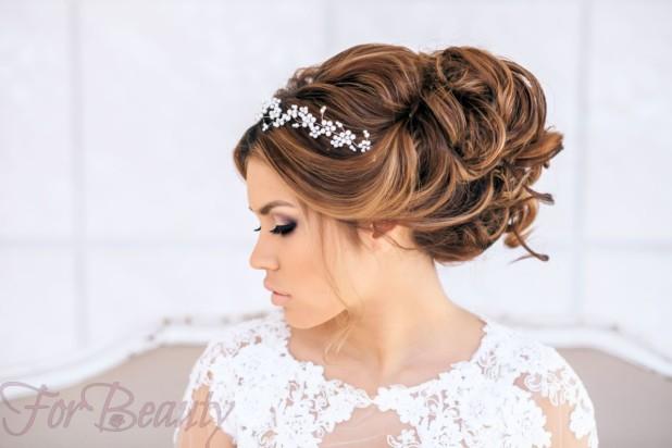 Свадебная укладка волос 2018
