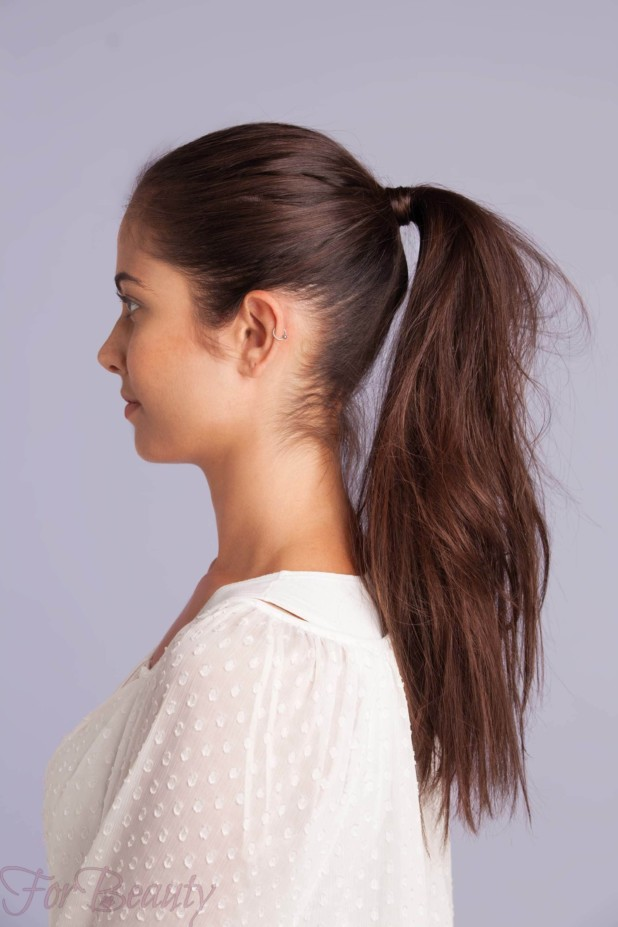 Укладка волос с хвостом 2018