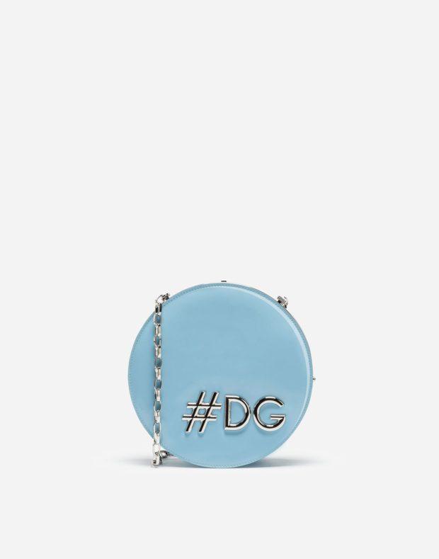 голубая сумка с цепочкой