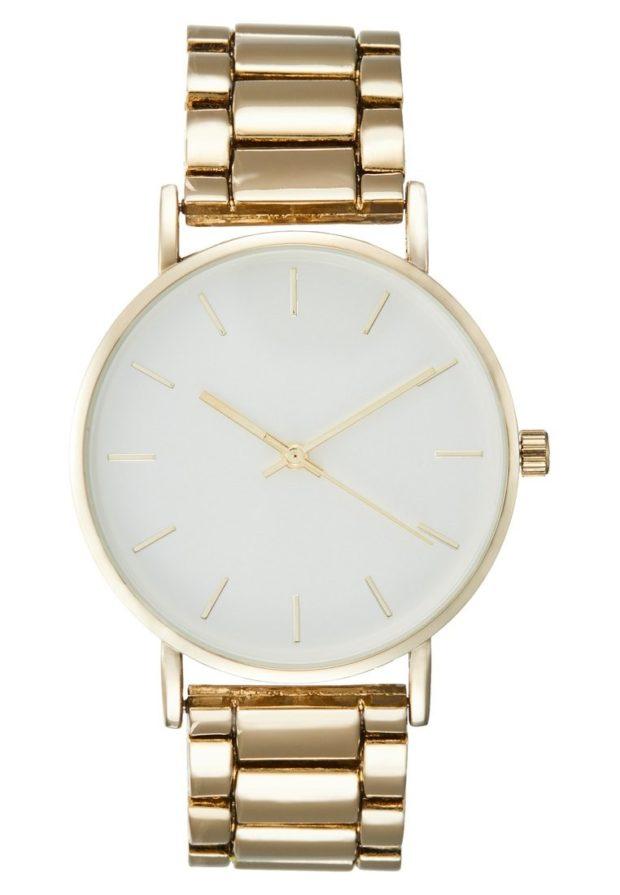 женские золотые часы белый циферблат