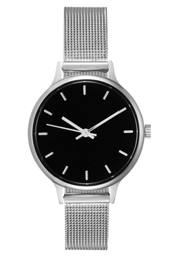 женские модные часы черный циферблат