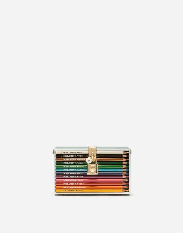 сумка в виде пенала с карандашами