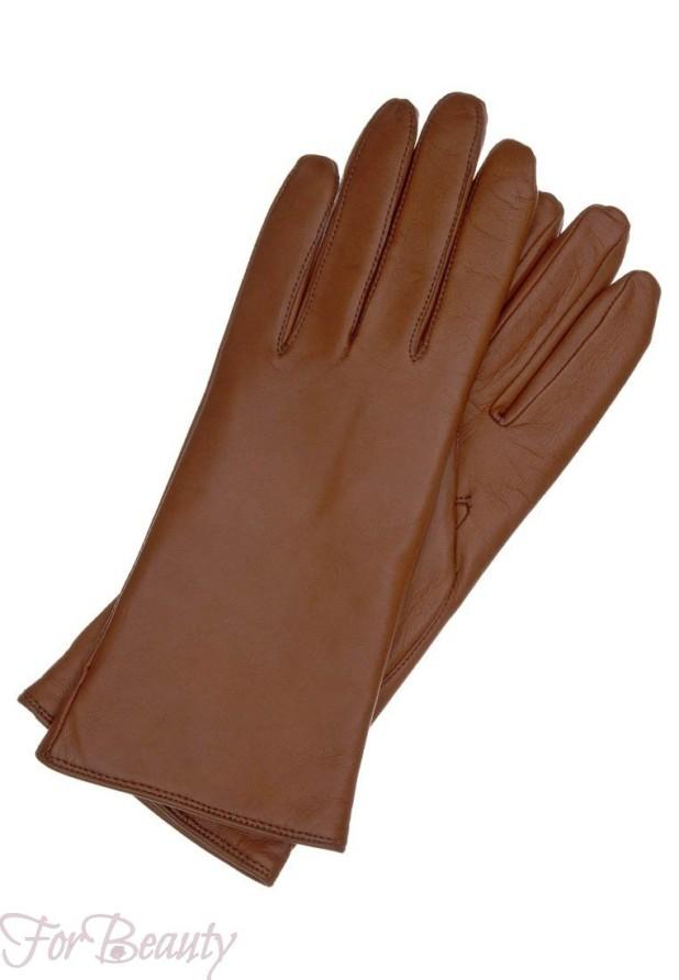 Модные коричневые перчатки 2018 женские