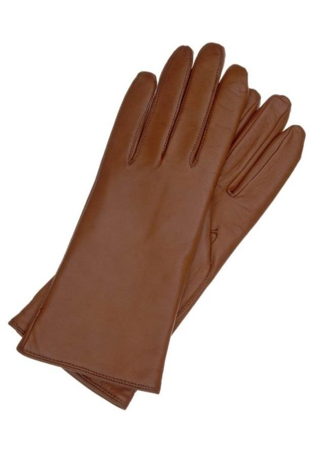 аксессуары: Модные коричневые перчатки 2018-2019 женские