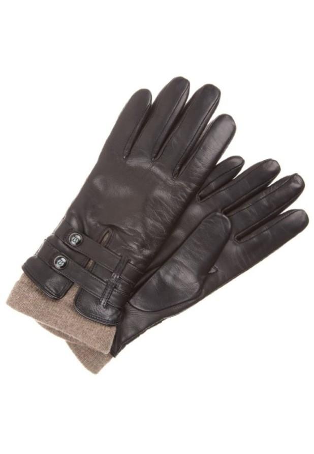 аксессуары: Модные черные перчатки 2018-2019 женские