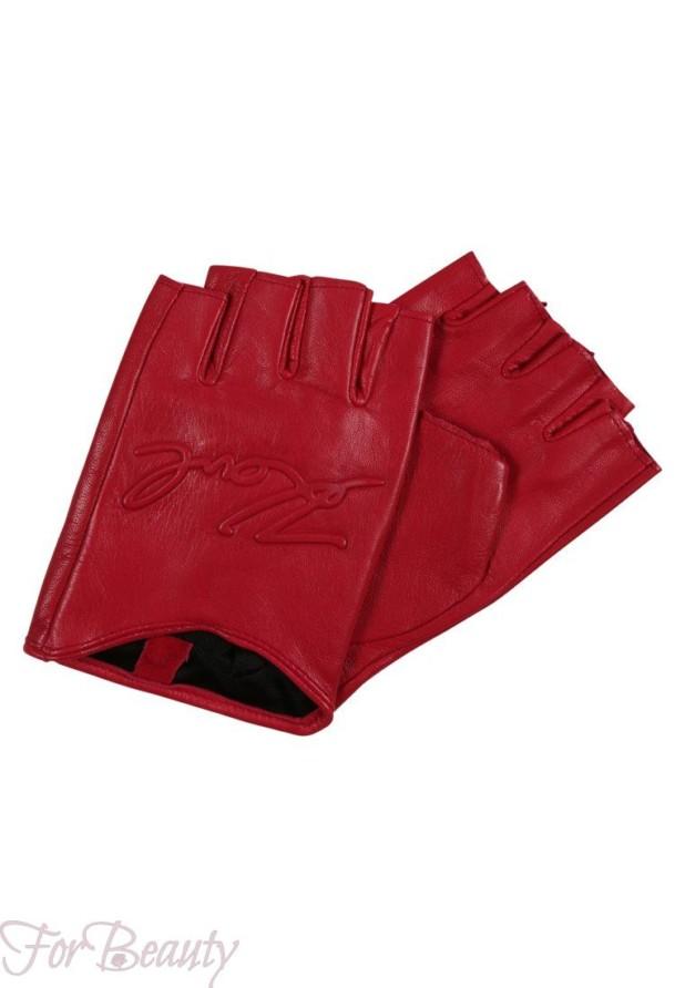 Модные красные перчатки 2018 женские