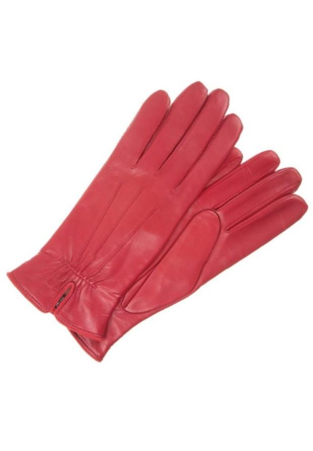 аксессуары: Модные красные перчатки женские
