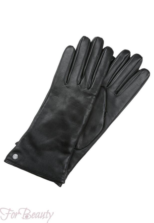 Модные черные перчатки 2018 женские