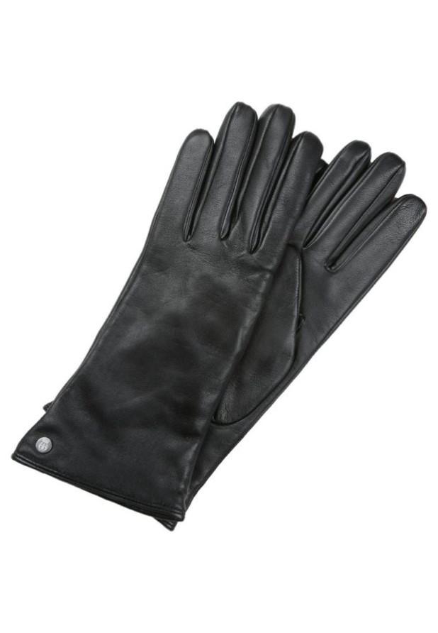 аксессуары: Модные черные перчатки женские
