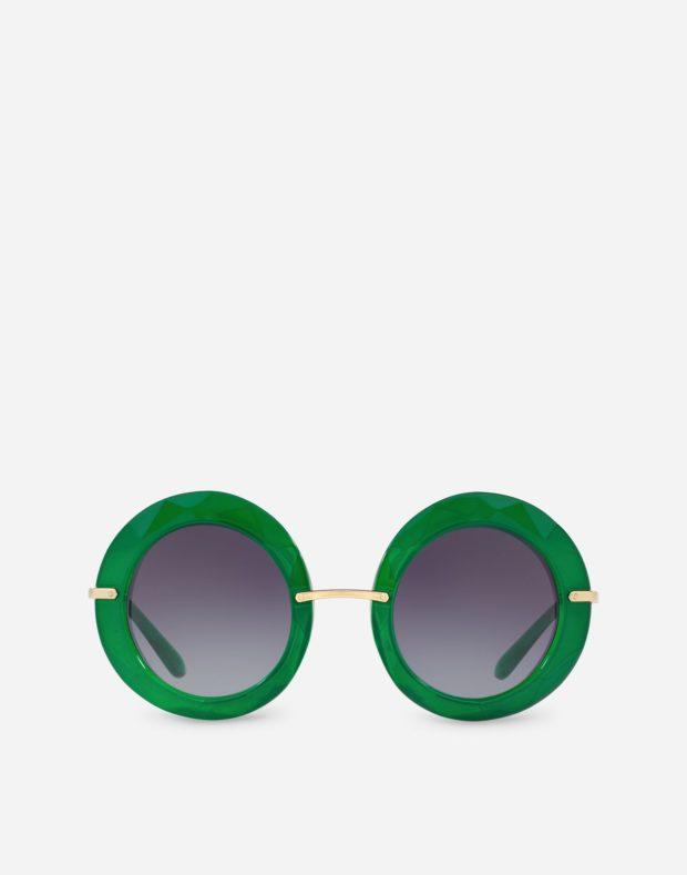 очки зеленая оправа
