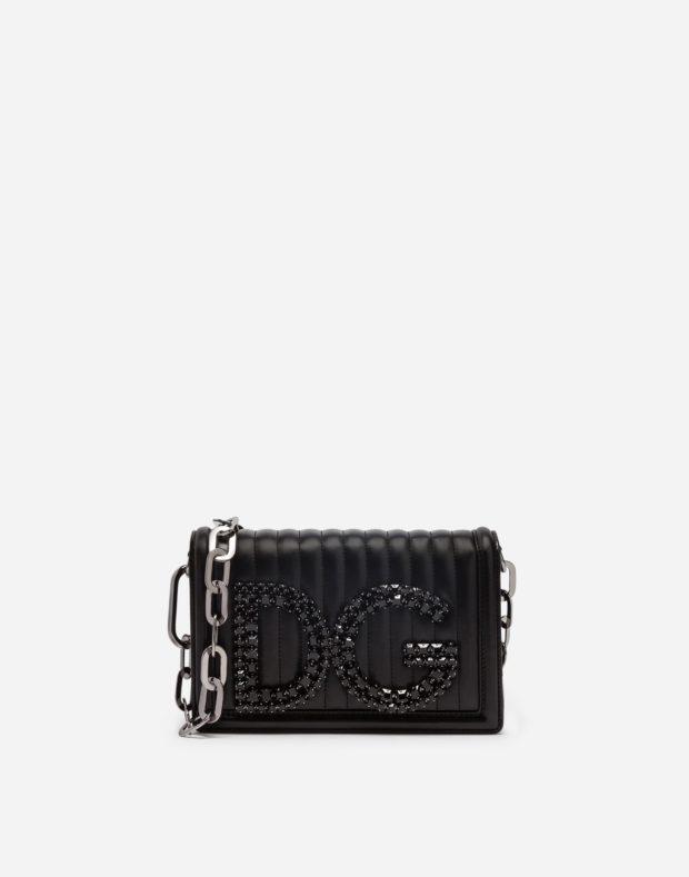 черная сумка D&G с большой цепью