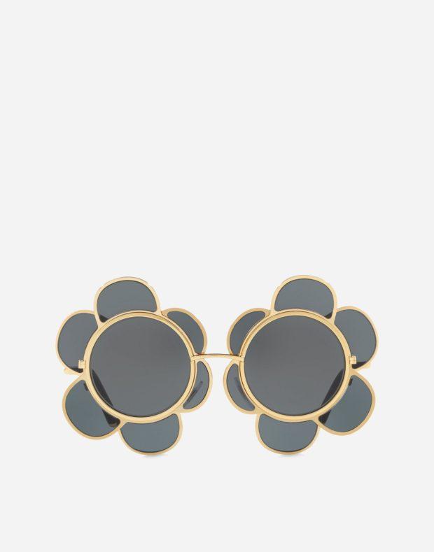 очки черные в виде цветка