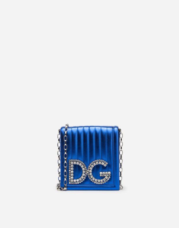 ярко-синяя сумка DG