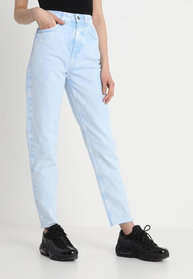 женские джинсы голубые прямые
