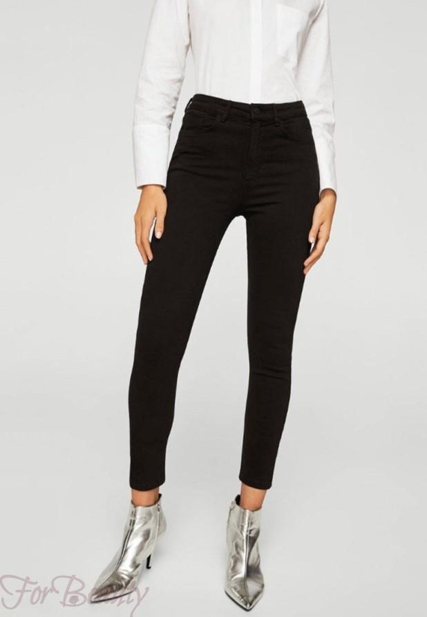 Модные черные женские джинсы 2018 года